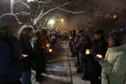 People from all beliefs came together Sunday a Prayer Vigil & Candlelight Procession show sympathy and support for the victims of the appalling attack at the mosque in Sainte- Foy, Quebec. — Bruce Fuhr, The Nelson DailyFoy, Quebec.